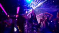 African-American beauty celebrating the night out with her girl friends video
