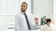 TS African-American male dancing to closing a deal video