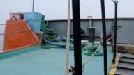 Aft deck of commercial fishing boat video