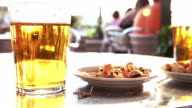 After Work beer and nuts during Happy Hour video