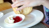 Afternoon Tea, Scone with Cream and Jam video