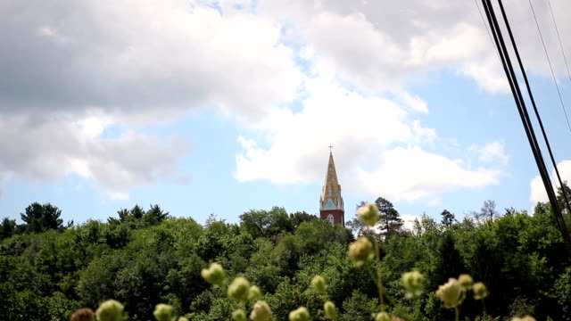Afternoon Timelapse of a Church Bell tower in Suburban America video