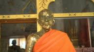 Aged Stone Statue Of Buddhist Monk video
