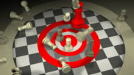 Aggressive Leadership Concept, Chess, Checkmate, Teamwork video