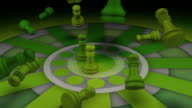 Aggressive Leadership Concept., Chess, Checkmate video