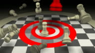 Aggressive Leadership Concept, Chess, Checkmate video