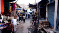 Agra back streets of India fixed camera video