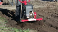 Agricultural process of ploughing video