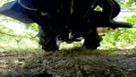 Agricultural Vehicle Work in Garden video