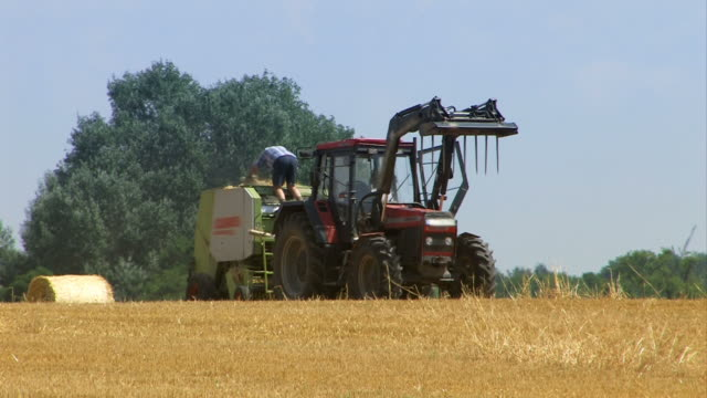 agriculture - field and tractor video
