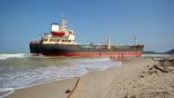 aground ship video