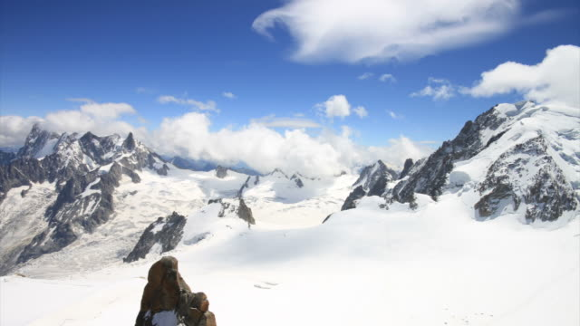 Aiguille du midi looking to Italy video