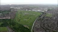 Aintree Racecourse  - Aerial View - England,  Sefton,  Aintree Village helicopter filming,  aerial video,  cineflex,  establishing shot,  United Kingdom video