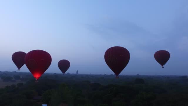 Air Balloon Flight at sunrise video