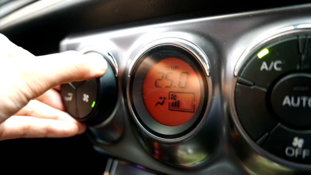 Air conditioning in the car. video