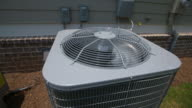 Air Conditioning Unit Close Up Rise Slow Motion video