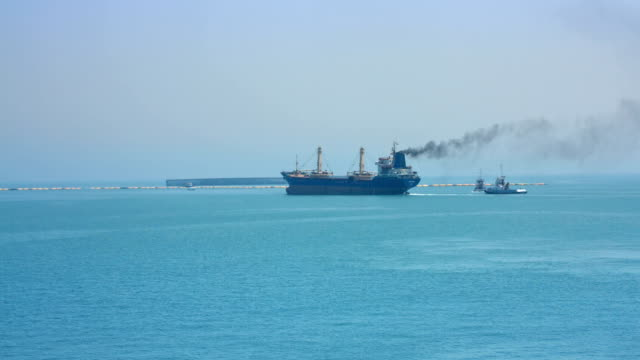 Air Pollution From Ship video