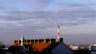 Air pollution. Power plant video