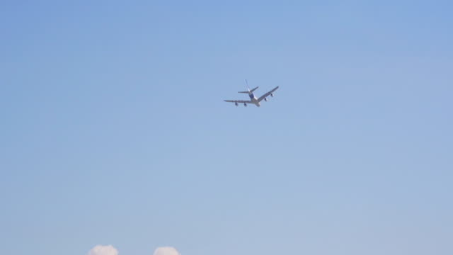 Airbus A380 flying away video