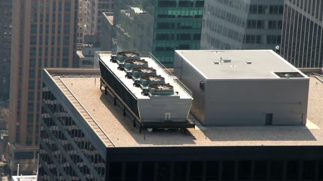 Airco unit on a skyscraper video