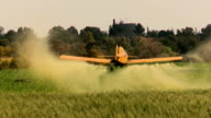 Aircraft. Agriculture aircraft , crop duster with sound video