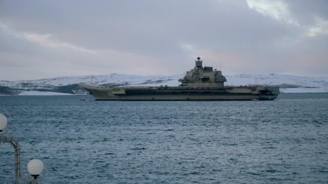 Aircraft carrier 'Admiral Kuznetsov.' video