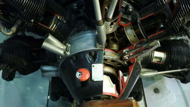 Aircraft engine video