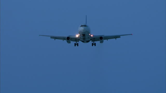 aircraft fly-over at night video