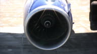 Aircraft jet engine, close-up, loopable (HD) video