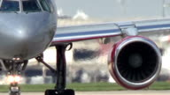 Aircraft on runway video