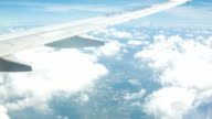 Aircraft wing and beautiful cloud video
