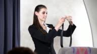 Airline Flight Attendant - Seat Belt video