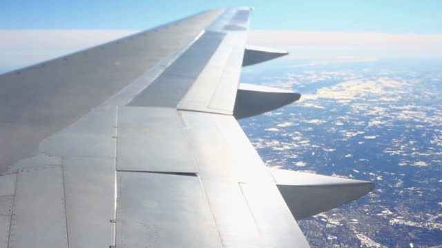 Airplane Flying Sequence Tilt Shift video