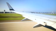 Airplane in flight video