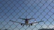 Airplane landing.(4K) video
