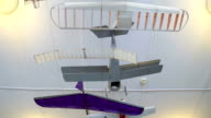 Airplane models in the aircraft modeling club video