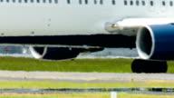 Airplane on runway video