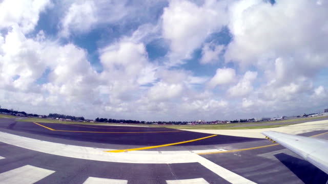 Airplane preparing for taking off video