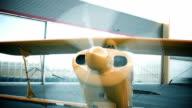 Airplane starting prop video