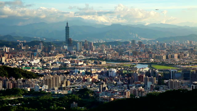 Airplane take off ,City of Taipei video