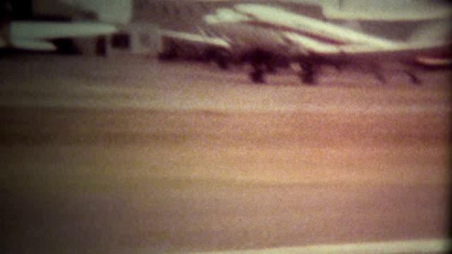 (Super 8 Film) Airplane Takeoff Window 1970 video