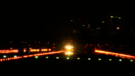 airplane taking off at night video