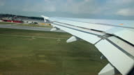 Airplane taking off video