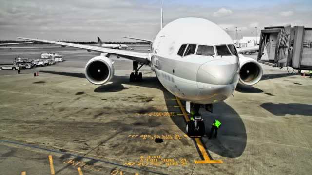 Airplane Time Lapse At Gate video
