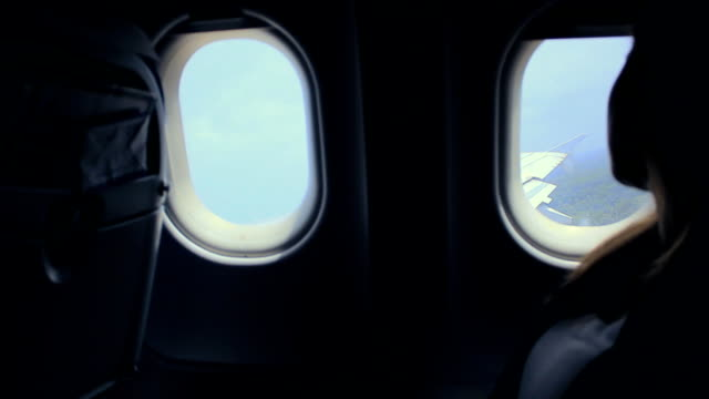 Airplane window video