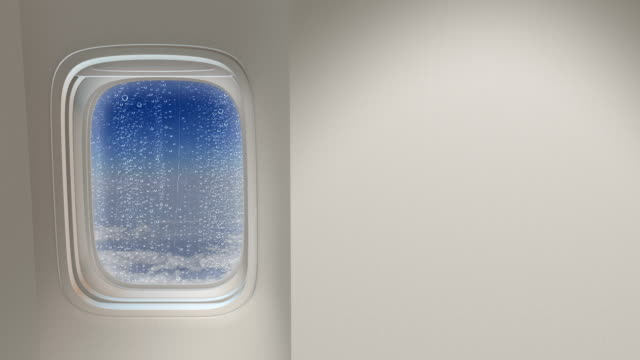 Airplane window video