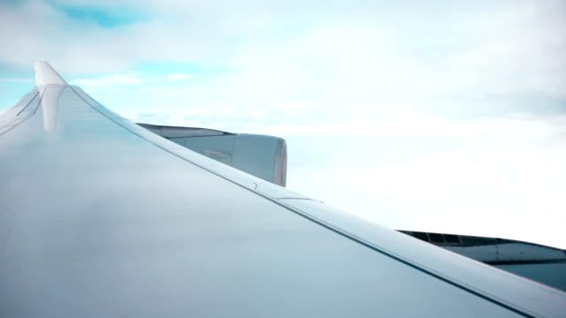 airplane window view during flight video