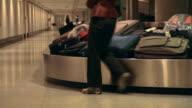 Airport baggage belt video
