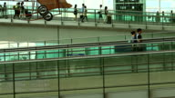 HD: Airport Commuter Business Travel Tour Vacation Concept.Shooting by time lapse. video