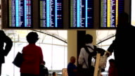 Airport Departure and Arrival Board video